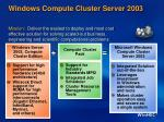 windows compute cluster server 20031