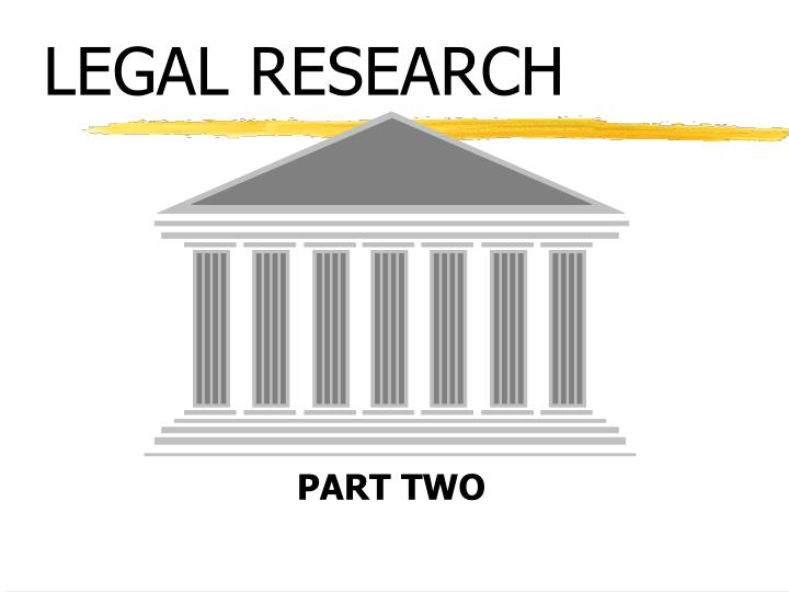 legal research n.