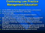 continuing law practice management education