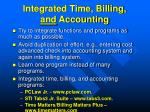 integrated time billing and accounting