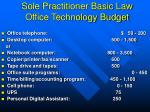 sole practitioner basic law office technology budget