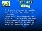 time and billing