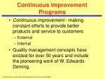 continuous improvement programs