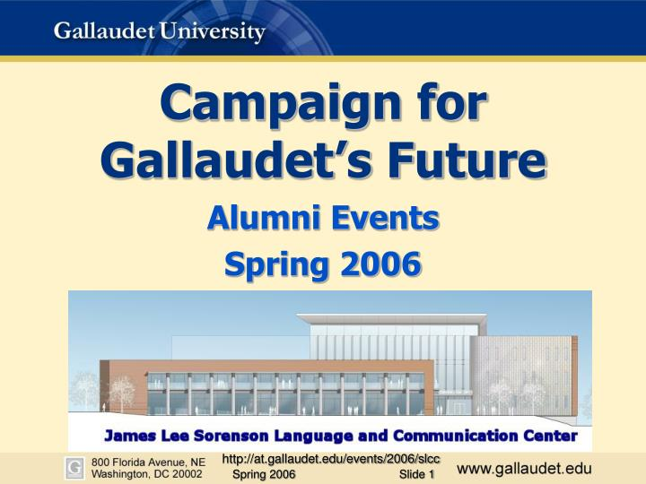campaign for gallaudet s future n.