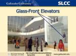 glass front elevators