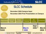 slcc schedule