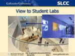 view to student labs