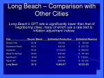 long beach comparison with other cities