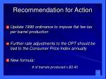 recommendation for action