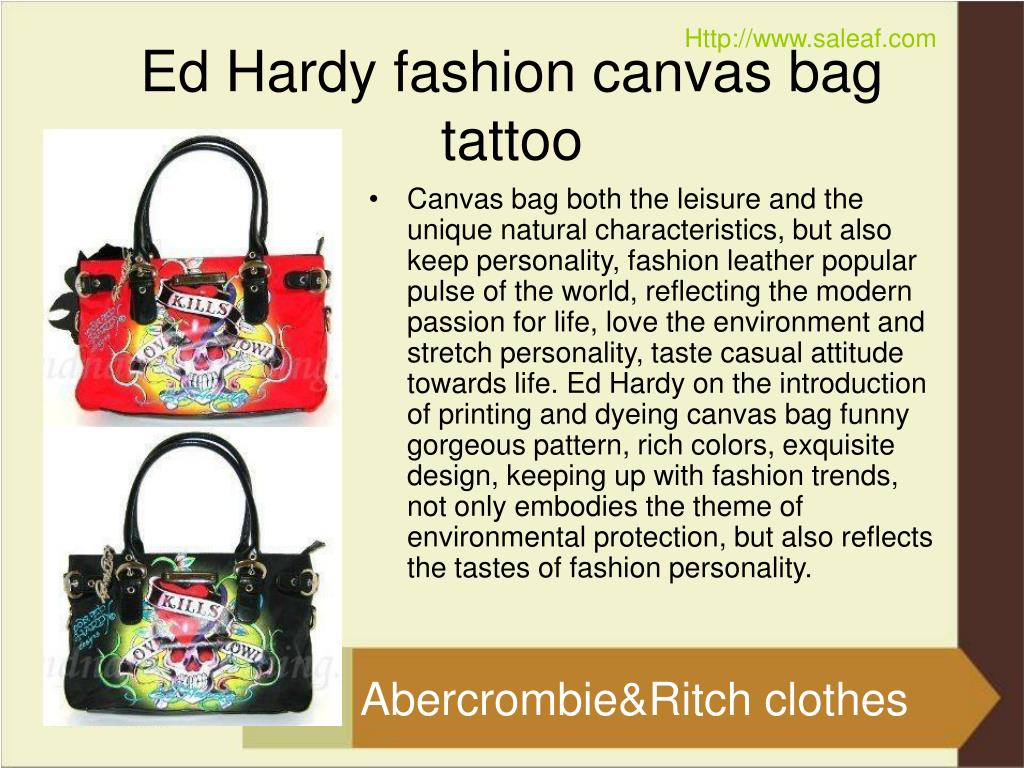 ed hardy fashion canvas bag tattoo l.