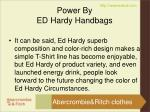 power by ed hardy handbags