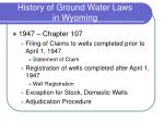 history of ground water laws in wyoming1