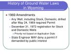 history of ground water laws in wyoming3