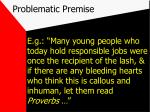 problematic premise