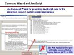 command wizard and javascript