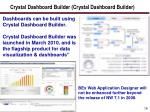 crystal dashboard builder crystal dashboard builder