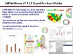 sap netweaver vc 7 0 crystal dashboard builder