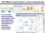 sap netweaver visual composer is a tool to visualize the data