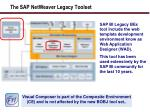 the sap netweaver legacy toolset