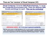 there are two versions of visual composer vc