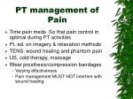 pt management of pain