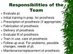 responsibilities of the team