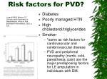 risk factors for pvd