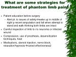 what are some strategies for treatment of phantom limb pain