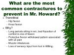 what are the most common contractures to prevent in mr howard