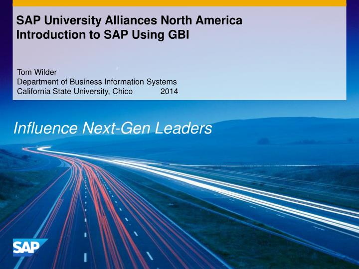 sap university alliances north america introduction to sap using gbi n.