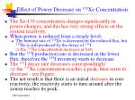 effect of power decrease on 135 xe concentration