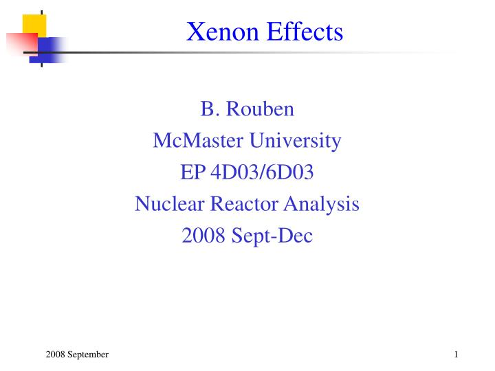 xenon effects n.