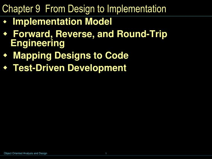 chapter 9 from design to implementation n.