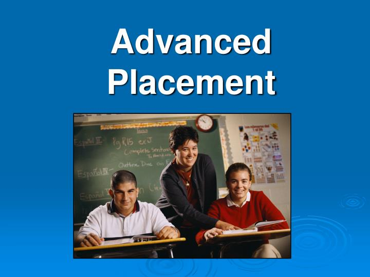 advanced placement n.
