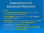 implications for advanced placement
