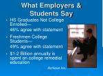 what employers students say1