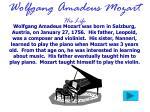 wolfgang amadeus mozart his life