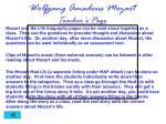wolfgang amadeus mozart teacher s page