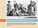 spotprent op de boston port bill 1774