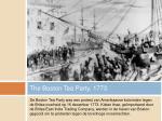 the boston tea party 1773