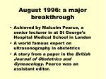 august 1996 a major breakthrough1