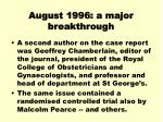 august 1996 a major breakthrough2