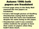 autumn 1996 both papers are fraudulent