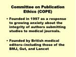 committee on publication ethics cope