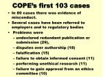 cope s first 103 cases