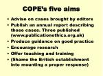 cope s five aims