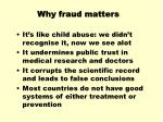 why fraud matters