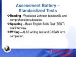assessment battery standardized tests