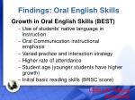 findings oral english skills