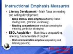 instructional emphasis measures